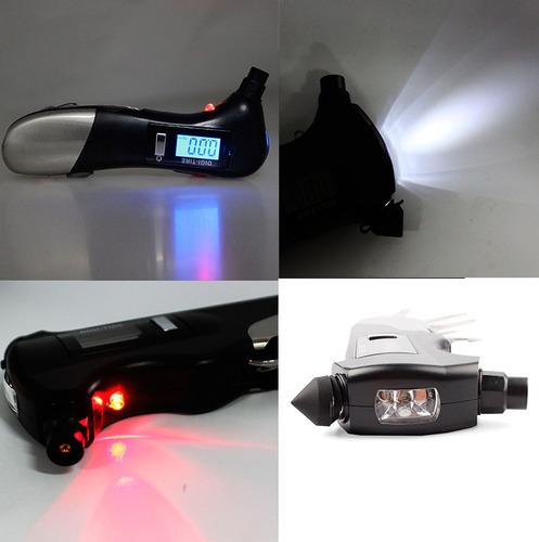 multiherramienta 9 en 1 presión llantas digital lámpara auto