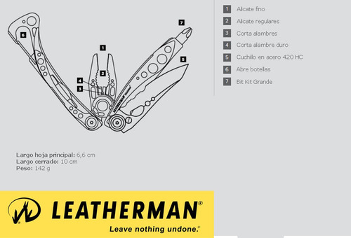 multiherramienta skeletool verde leatherman (lea-005-020a)