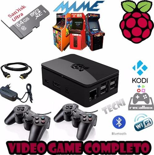 multijogos raspberry pi3 recalbox + kodi + cartão 64gb games