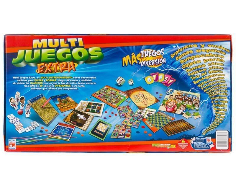Multijuegos Extra 30 Juegos Familiares De Mesa 299 00 En