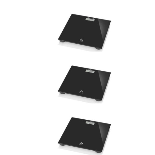 multilaser balança p/ banheiro digital preta (kit c/03)