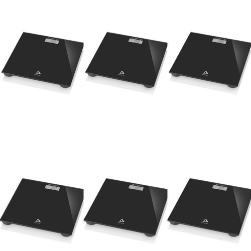 multilaser balança p/ banheiro digital preta (kit c/06)