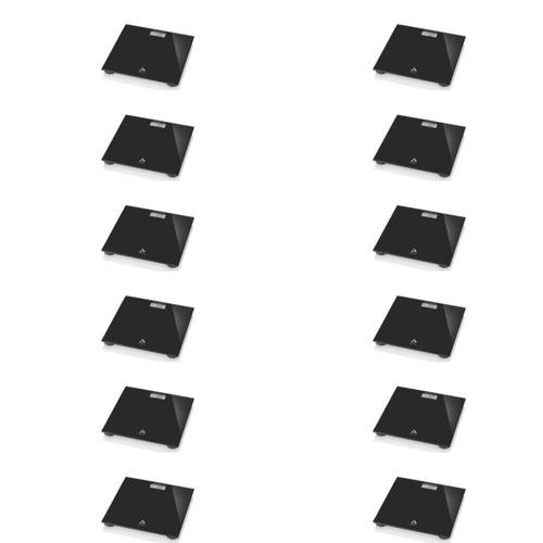 multilaser balança p/ banheiro digital preta (kit c/12)