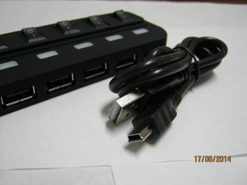 multilector usb 7 puertos independientes c/u alta velocidad