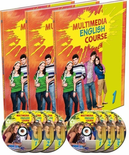 multimedia english course - 3 tomos + 3 cd roms + 3 dvds
