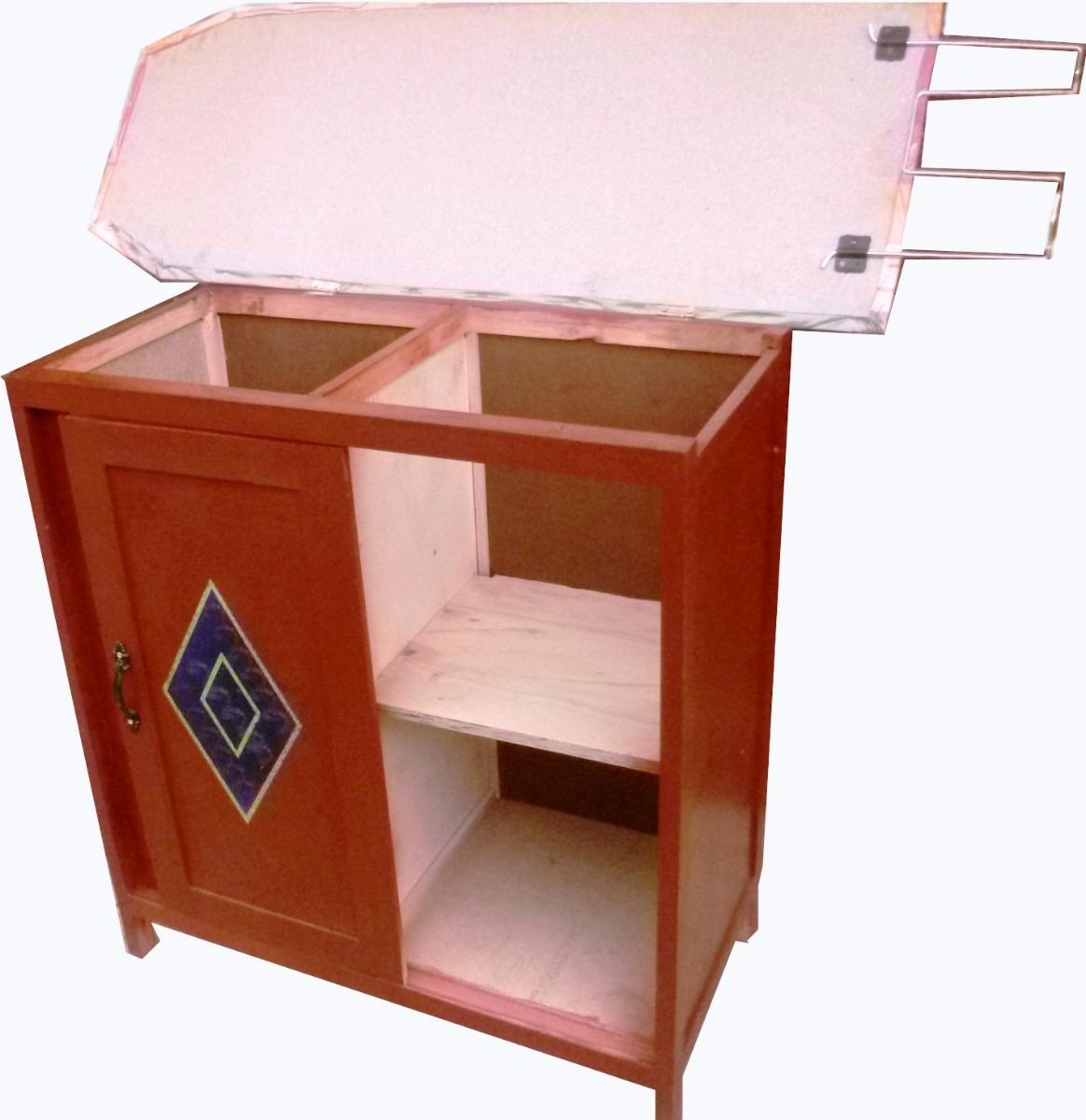 Multimesa mesa para planchar y guardar ropa en - Mueble para guardar tabla de planchar ...