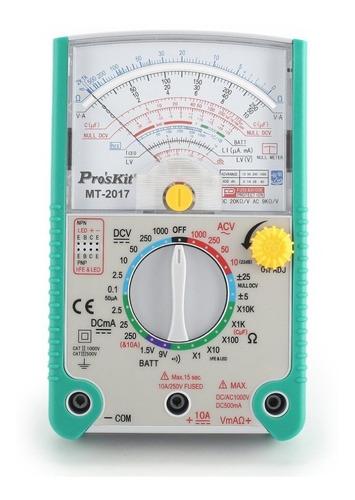 multimetro analogico tester aguja proskit mt2017 profesional