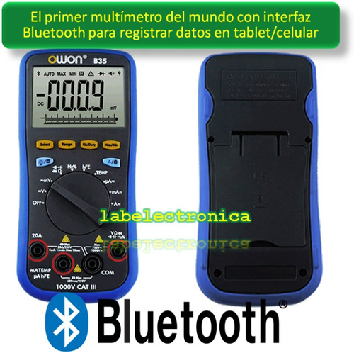 multímetro b35t+ bluetooth 4.0 android iphone temp. truerms