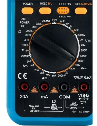 multímetro capacímetro indutímetro com capa et-2082e  minipa