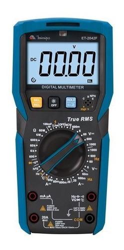 multímetro capacímetro ncv testa led 20a minipa et-2042f