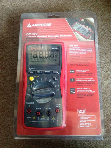 multimetro cat lll amprobe am-530 no fluke 600 volts