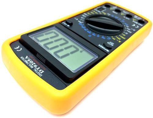 multimetro digital 9205 + ponta de prova profissional