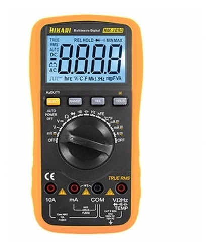 multímetro digital, capacímetro, true rms, hikari hm-2090