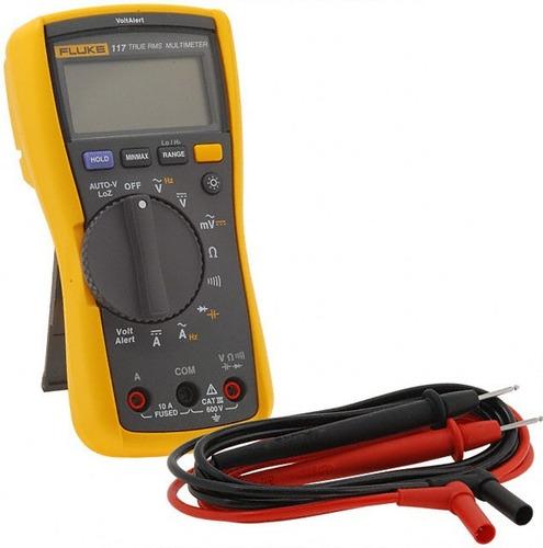 multímetro digital com detector de tensão trms fluke 117