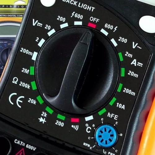 multímetro digital com sensor de temperatura e beep eda-9kd