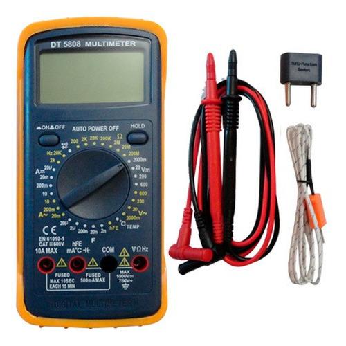 multimetro digital completo dt-5808 termocupla capacimetro