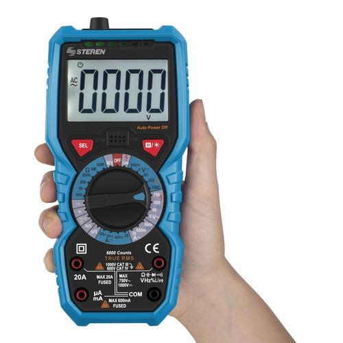 multímetro digital con detector voltaje | mul-265