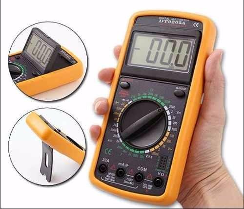 multimetro digital dt 9205a: capacitância, diodos, tensão