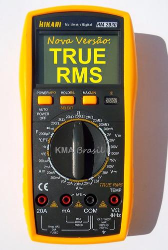 multímetro digital - hikari hm-2030 true rms