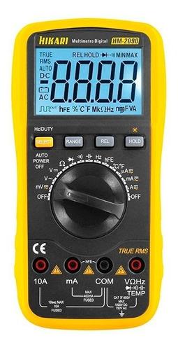 multímetro digital hikari hm-2090 true rms capacitor