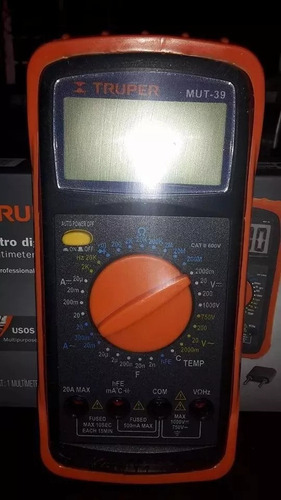 multimetro digital mantenimiento industrial marca truper