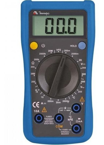 multímetro digital minipa 1/2 dígitos bateria 9v et-1110a