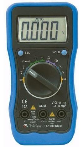 multimetro digital minipa  et-1609