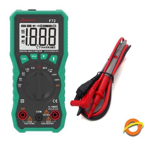 multimetro digital ncv tester autorango lcd luz buzzer 2000c