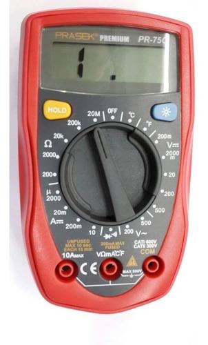 multimetro digital prasek pr-75c