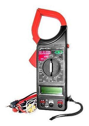 multimetro digital profesional gancho pantalla temperatura