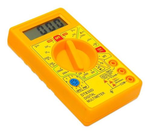 multímetro digital profissional + bateria 9v
