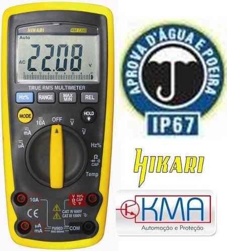 multimetro digital profissional hikari hm-2300 - true rms