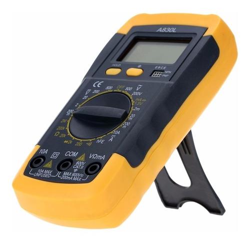 multímetro digital, teste de hfe, continuidade, diodo