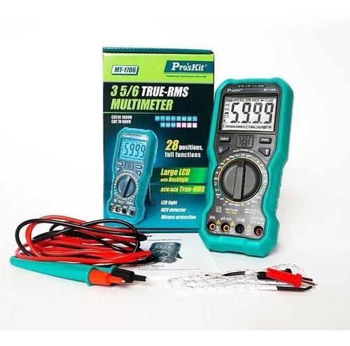 multimetro digital tester 3-5/6 true rms proskit mt-1706 cuo