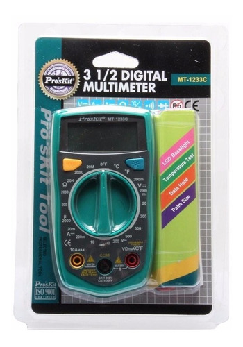 multimetro digitall 3 1/2 proskit mt-1233c / 4366