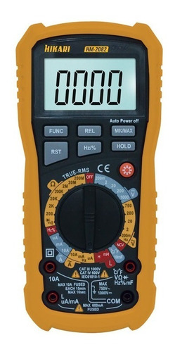multímetro hikari hm-2082 capacímetro indutímetro ncv