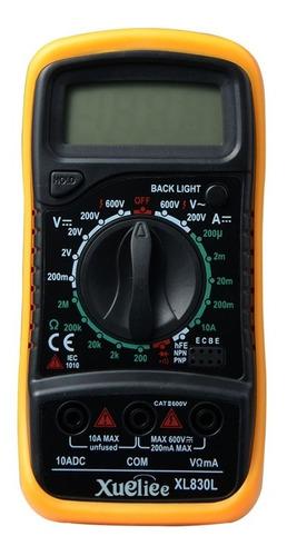 multímetro lcd digital xl830l ac dc voltímetro amperímetro