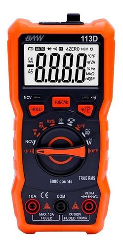 multímetro tester digital 6000 recuentos baw 113d true rms
