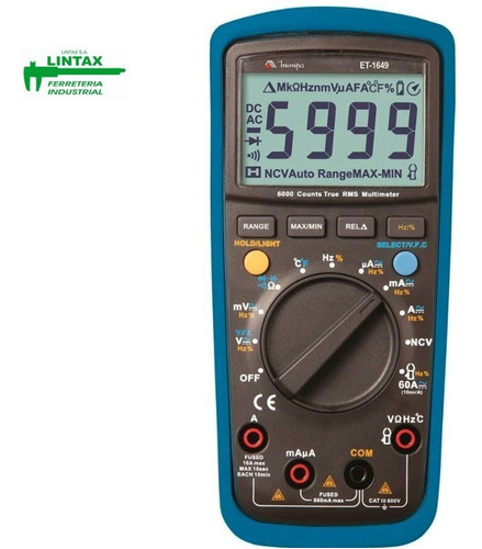multimetro tester digital minipa et-1649
