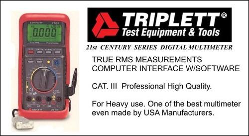 multimetro tester digital  triplett  profesional. ofertazo