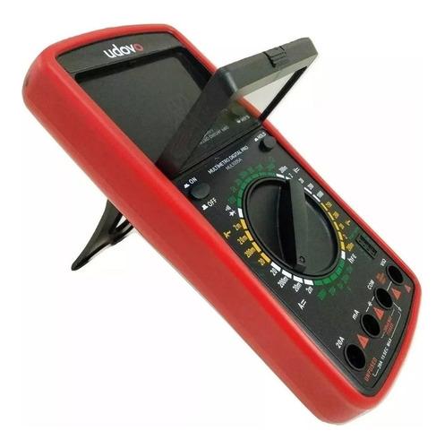 multimetro tester digital udovo  data hold display led c60