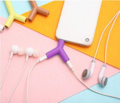 multiplicador audifonos manos libres 3.5mm forma y enpereira