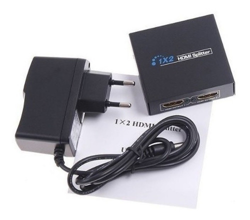 multiplicador de vídeo splitter 2 saídas hdmi hub005