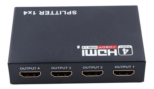 multiplicador hdmi spliter 1 entrada x 4 salidas 1080p