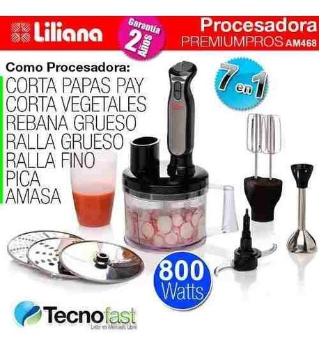multiprocesadora mixer liliana am468 7 en 1 800w tecnofast