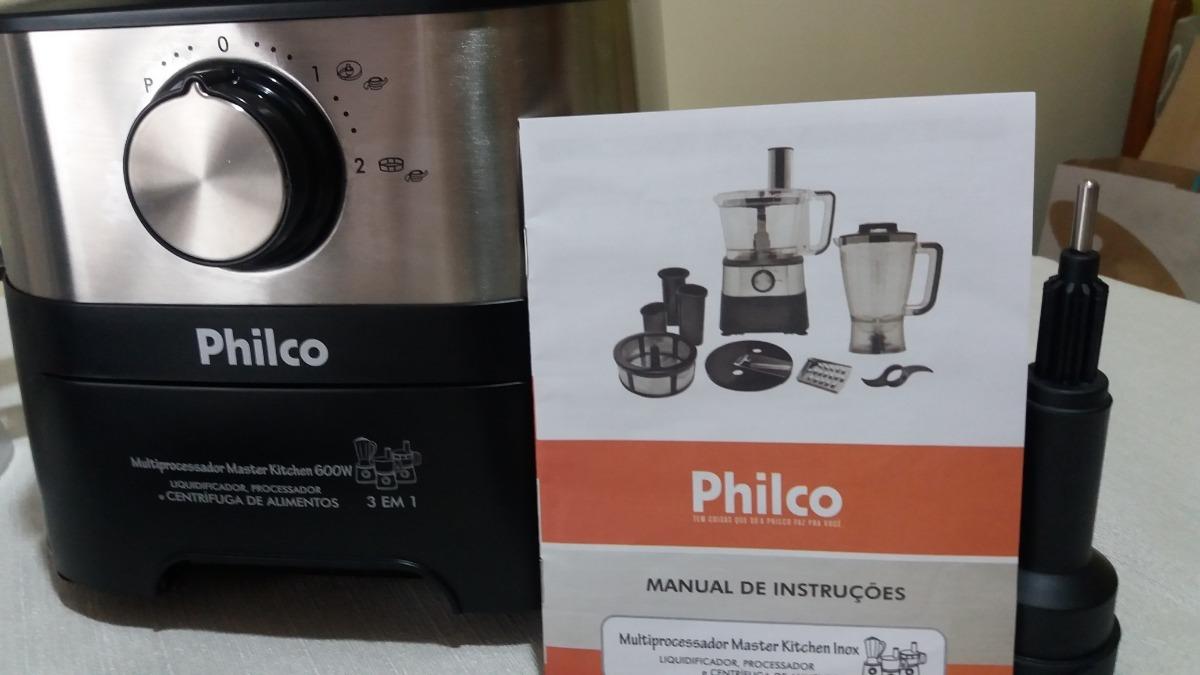 5814bb0a4 multiprocessador master kitchen philco inox 600 w. Carregando zoom.