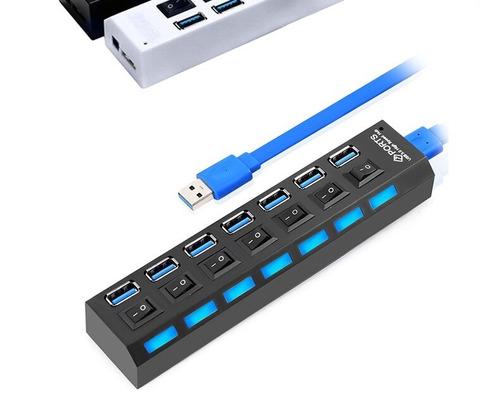 multipuertos usb 3.0 hub 7 puertos con interruptor on / off