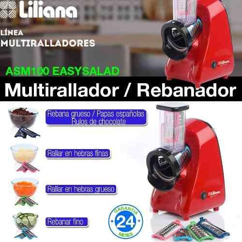 multirallador rebanador easysalad liliana 4 cuchillas 250w