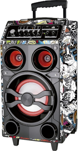 multireproductor kazz mini fest 70w vinilo bluetooth aux usb
