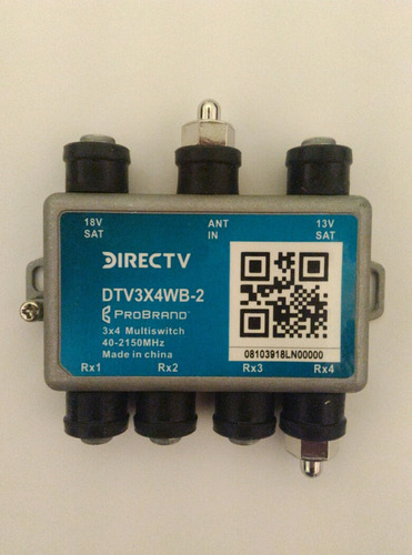 multiswicht directv aspen 4 salidas original modelo nuevo